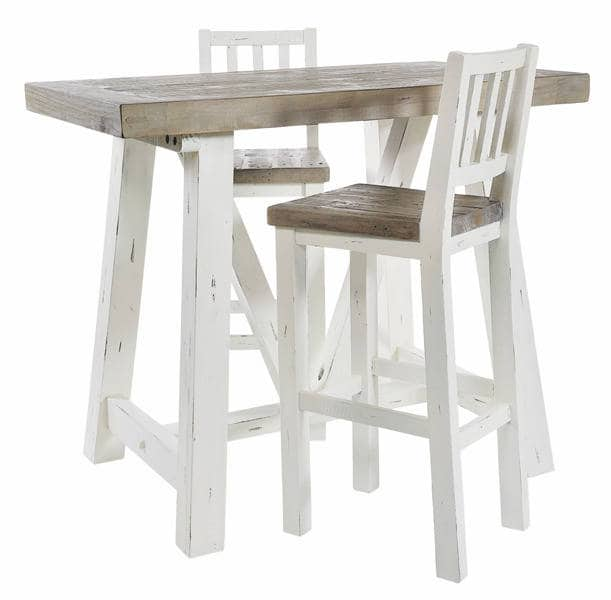 Excellent Purbeck Shabby Chic Bar Table 1 Stool Machost Co Dining Chair Design Ideas Machostcouk