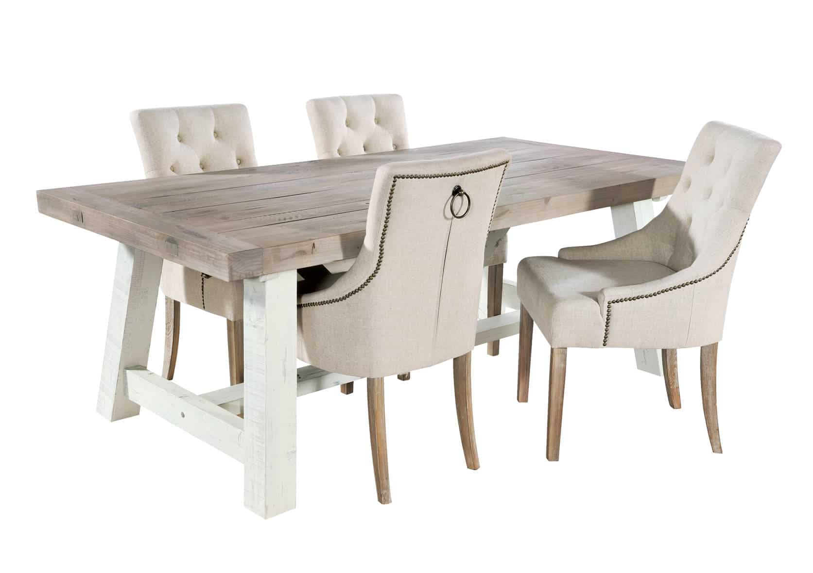 Purbeck Shabby Chic Dining Table With Stella Chairs