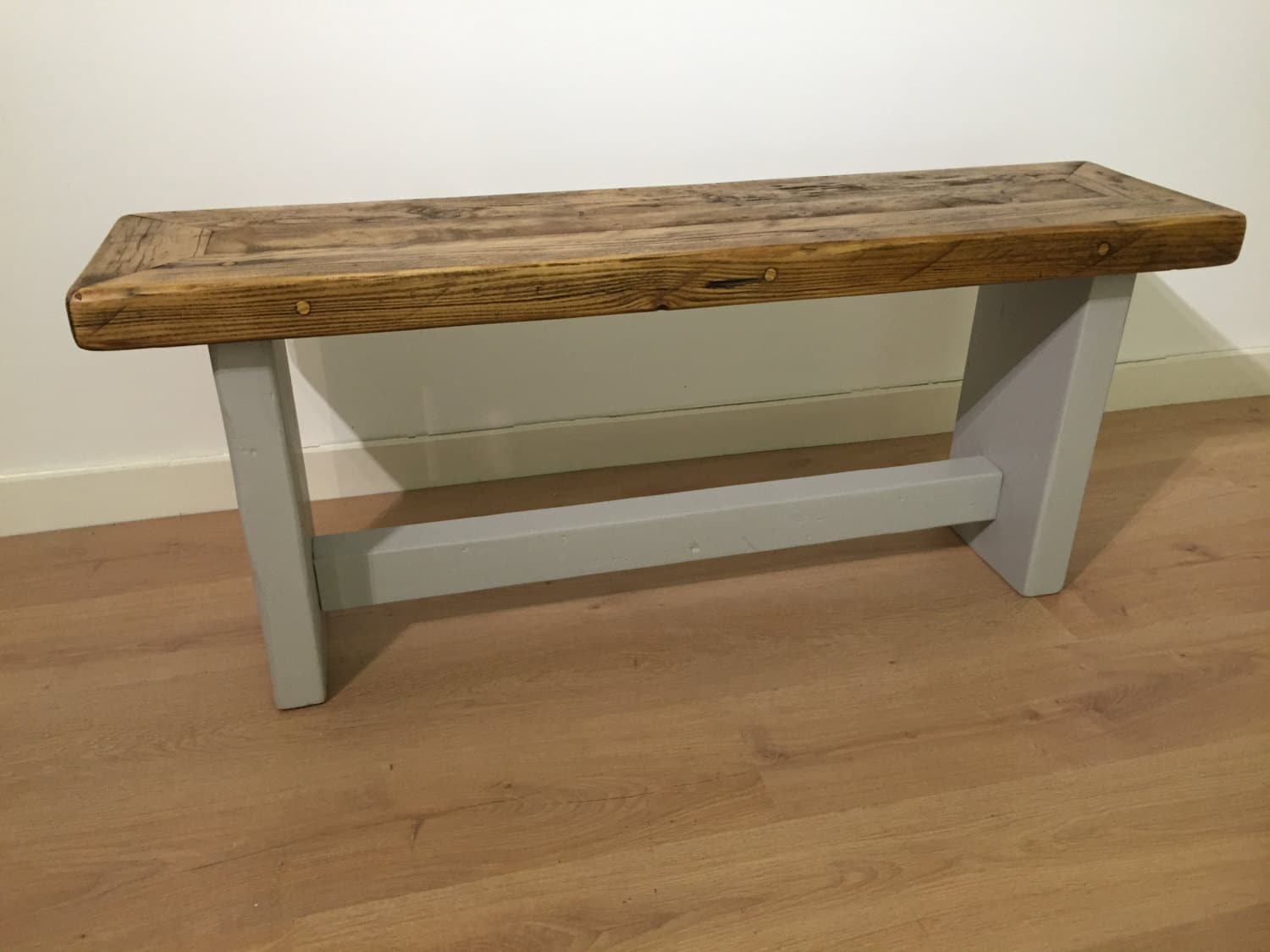 Awe Inspiring Reclaimed Rustic Solid Pine Bench Seat Ncnpc Chair Design For Home Ncnpcorg