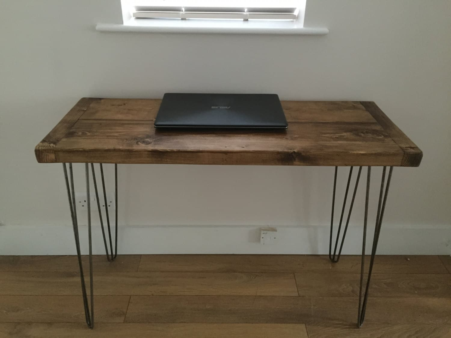 your make metal with desk using hairpin own block at table style butcher any legs height