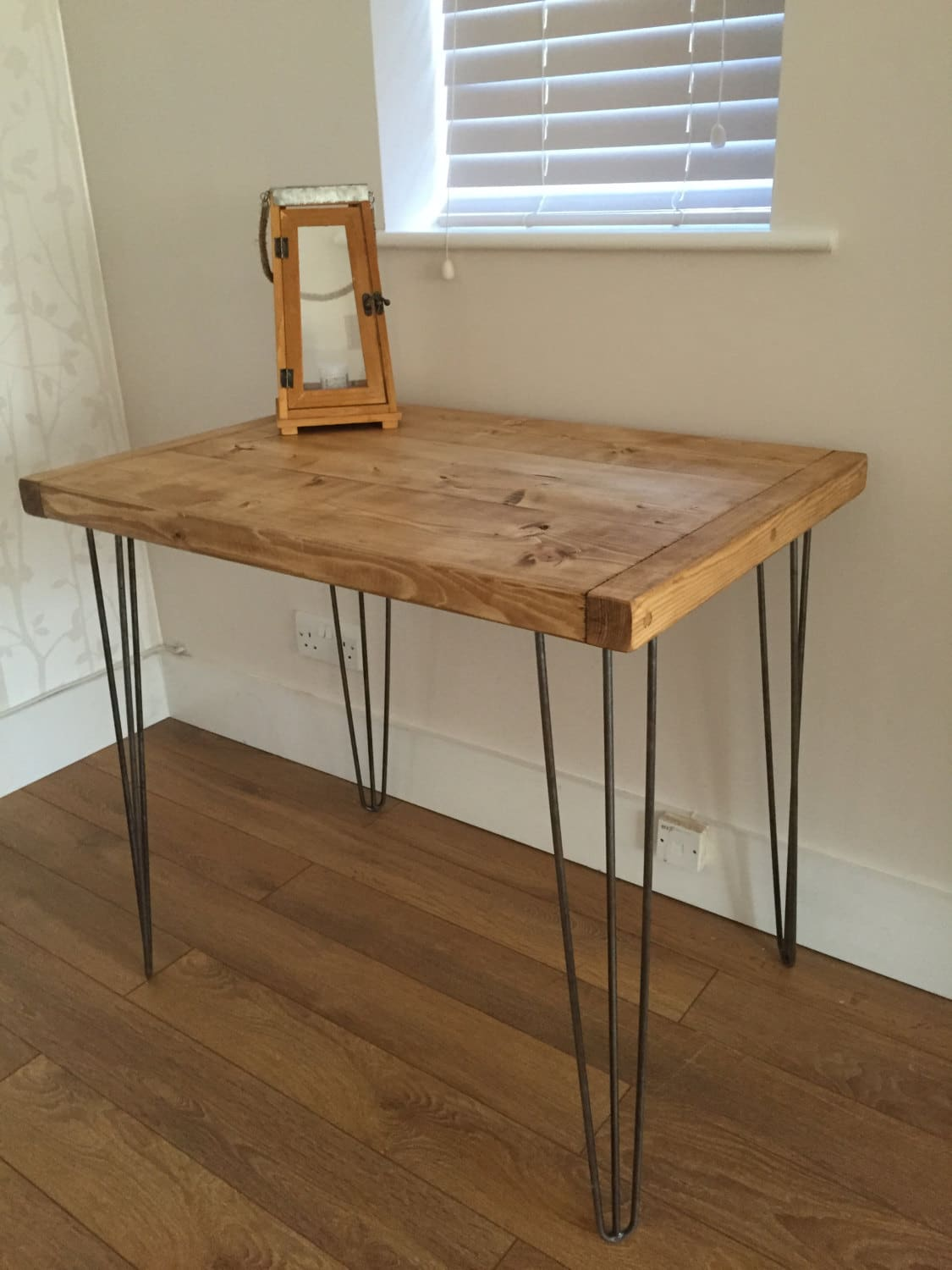 Rustic pine kitchen dining side table