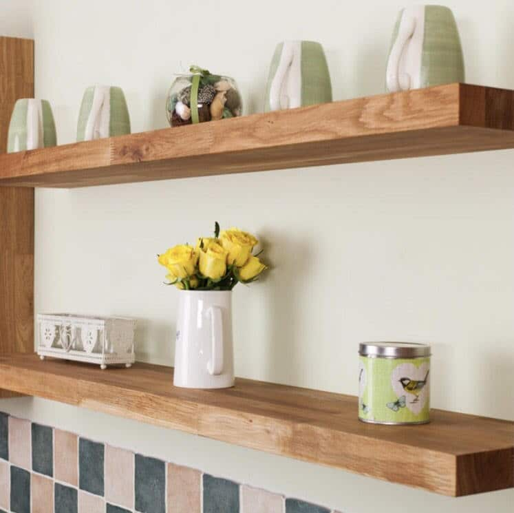 Solid English Oak Floating Shelf or Mantel - 200mm x 35mm ...
